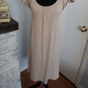 Anthropologie Dresses - Anthropologies Moth tan sweater dress. Size XS